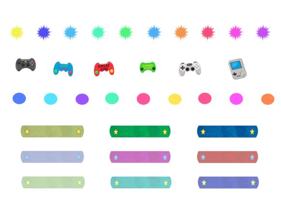 Download Free Kid Gamers Reward Chart Stickers Graphic By Capeairforce for Cricut Explore, Silhouette and other cutting machines.