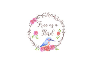 Download Free Kingfisher Rose Flower Wreath Graphic By Shawlin Creative Fabrica for Cricut Explore, Silhouette and other cutting machines.