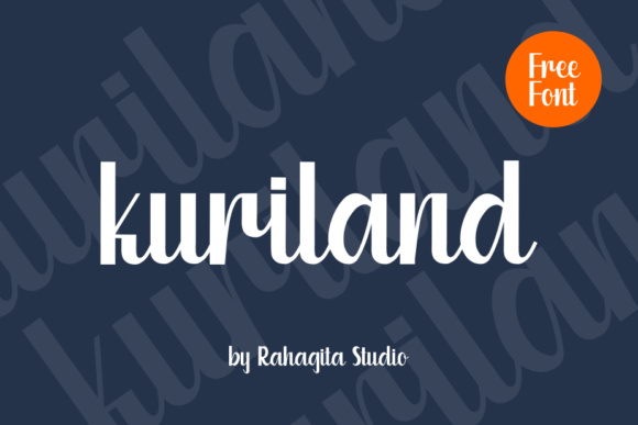 Print on Demand: Kuriland Script & Handwritten Font By Creative Fabrica Freebies