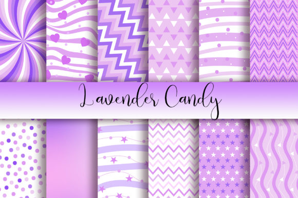 Download Free Lavender Candy Background Digital Papers Graphic By Pinkpearly for Cricut Explore, Silhouette and other cutting machines.