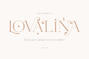 Print on Demand: Lovalina Serif Font By craftsupplyco