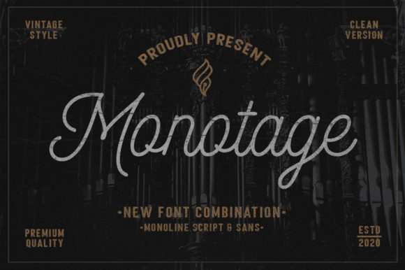 Print on Demand: Monotage Script & Handwritten Font By fargunstudio