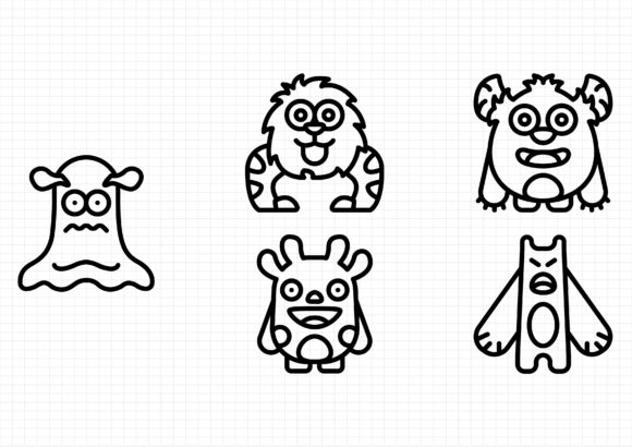 Download Free Monsters Graphic By Beryladamayu Creative Fabrica SVG Cut Files