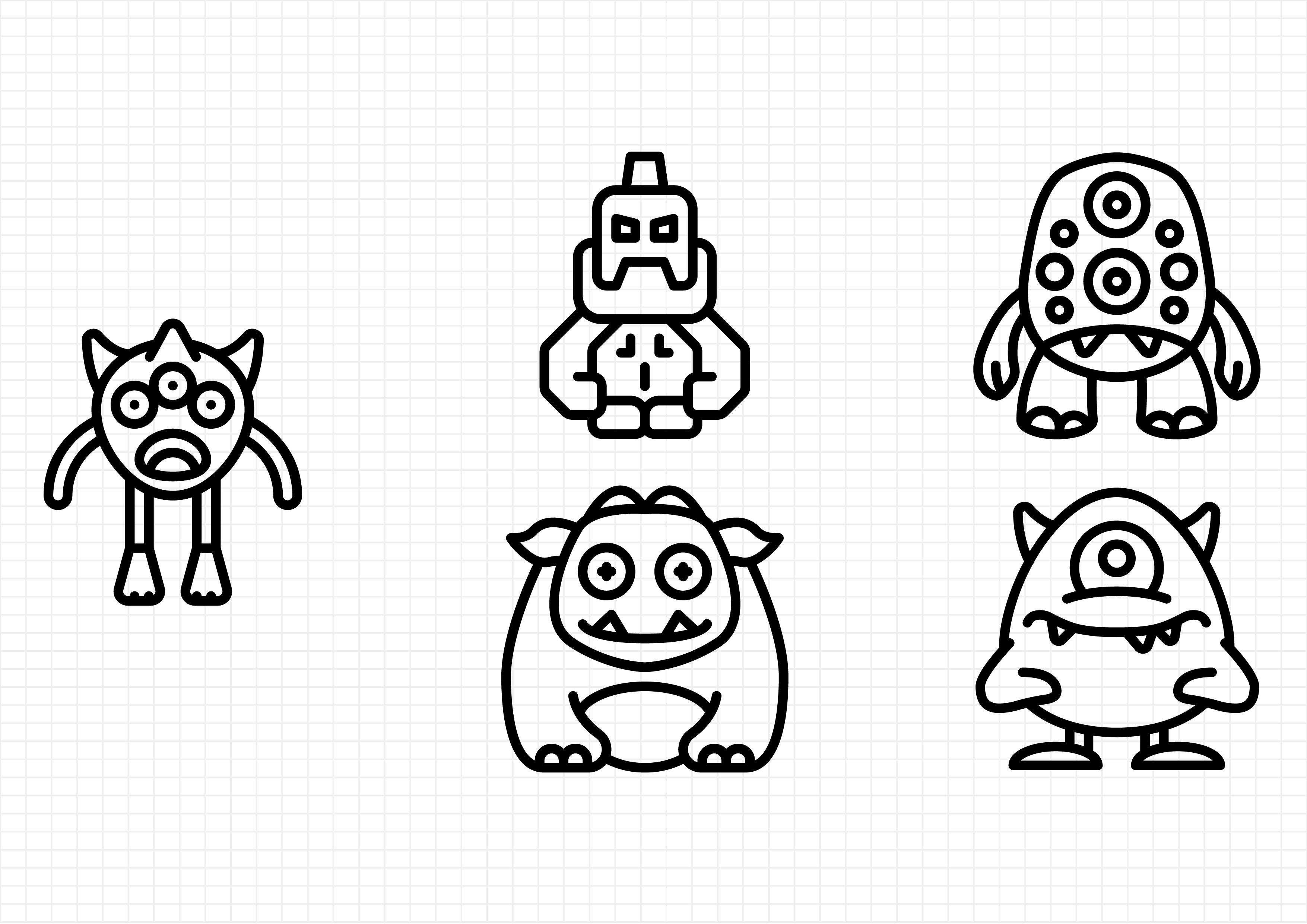Download Free Monsters Graphic By Beryladamayu Creative Fabrica for Cricut Explore, Silhouette and other cutting machines.