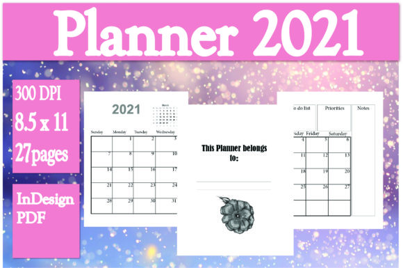 Print on Demand: Monthly Planner 2021 Graphic KDP Interiors By Ivana Prue