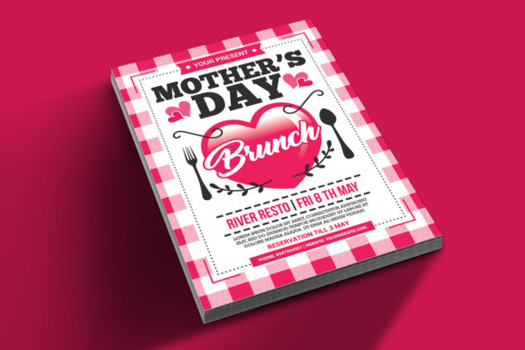 Download Free Mother S Day Brunch Flyer Grafico Por Muhamadiqbalhidayat for Cricut Explore, Silhouette and other cutting machines.