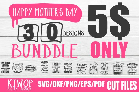 Download Free Mother S Day Design Bundle Graphic By Ktwop Creative Fabrica SVG Cut Files