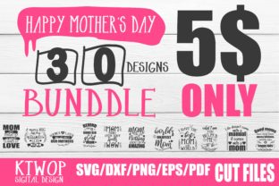 Download Free Mother S Day Design Bundle Graphic By Ktwop Creative Fabrica for Cricut Explore, Silhouette and other cutting machines.