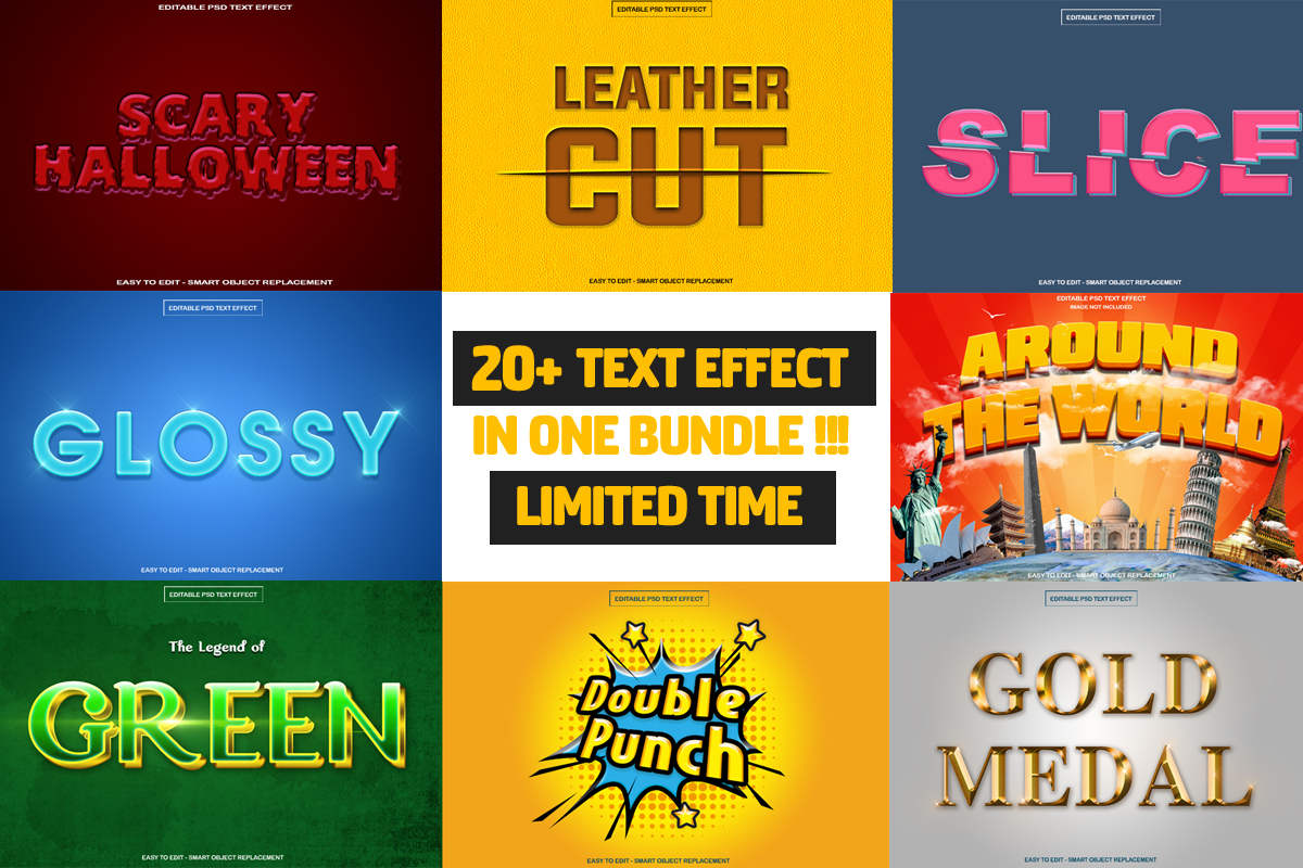 Download Free Movie Text Effect Bundle Bundle Creative Fabrica for Cricut Explore, Silhouette and other cutting machines.