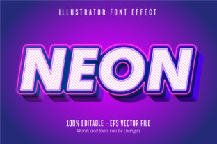 Download Free Neon Text 3d Editable Font Effect Graphic By Mustafa Beksen for Cricut Explore, Silhouette and other cutting machines.