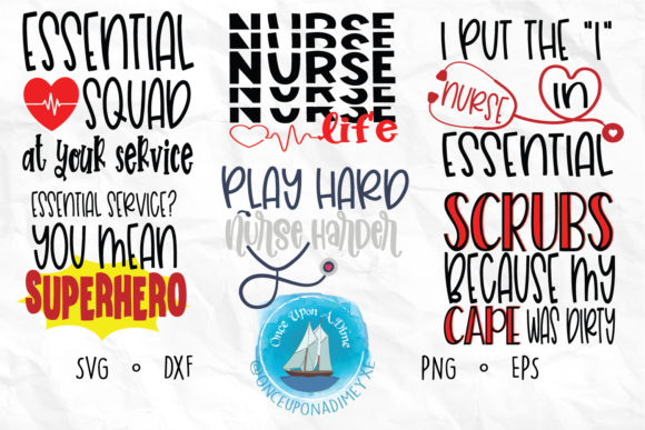 Download Free Nurse Bundle Healthcare Graphic By Onceuponadimeyxe Creative for Cricut Explore, Silhouette and other cutting machines.
