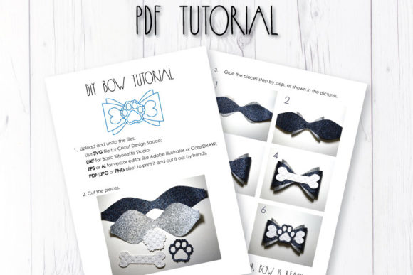 Download Free Paw Bow Template Graphic By Articuties Creative Fabrica for Cricut Explore, Silhouette and other cutting machines.