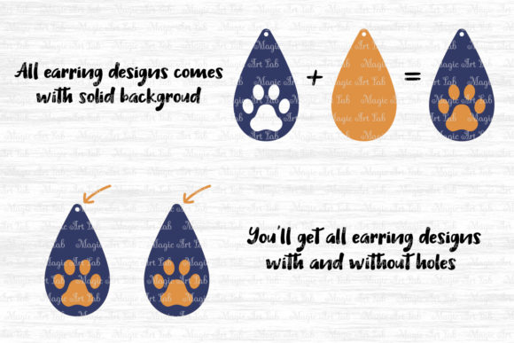 Download Free Paw Earrings Graphic By Magicartlab Creative Fabrica SVG Cut Files