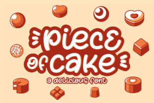 Print on Demand: Piece of Cake Display Font By Azetype