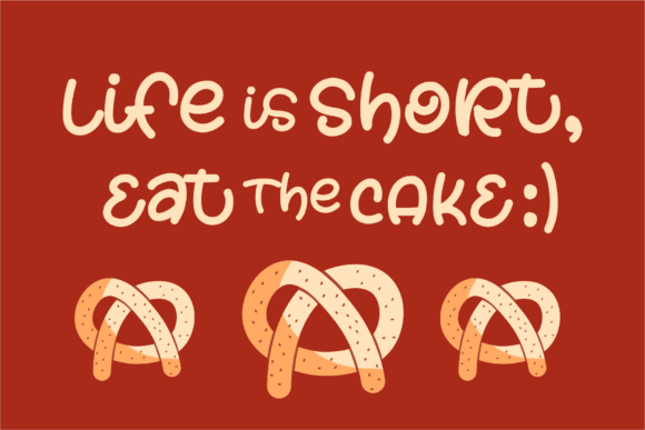 Download Free Piece Of Cake Font By Azetype Creative Fabrica for Cricut Explore, Silhouette and other cutting machines.