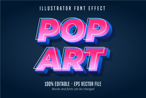 Print on Demand: Pop Art Text, Editable Text Effect Graphic Graphic Templates By Mustafa Bekşen