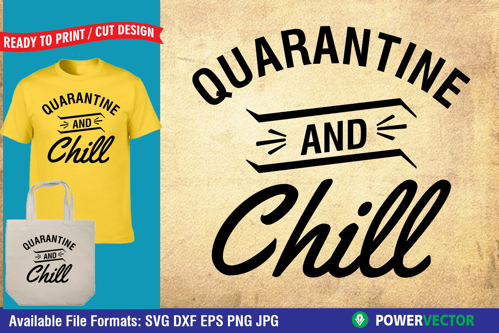 Download Free Quarantine And Chill Graphic By Powervector Creative Fabrica SVG Cut Files