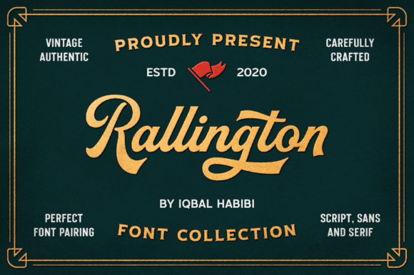 Print on Demand: Rallington Display Font By Iqbal Habibi