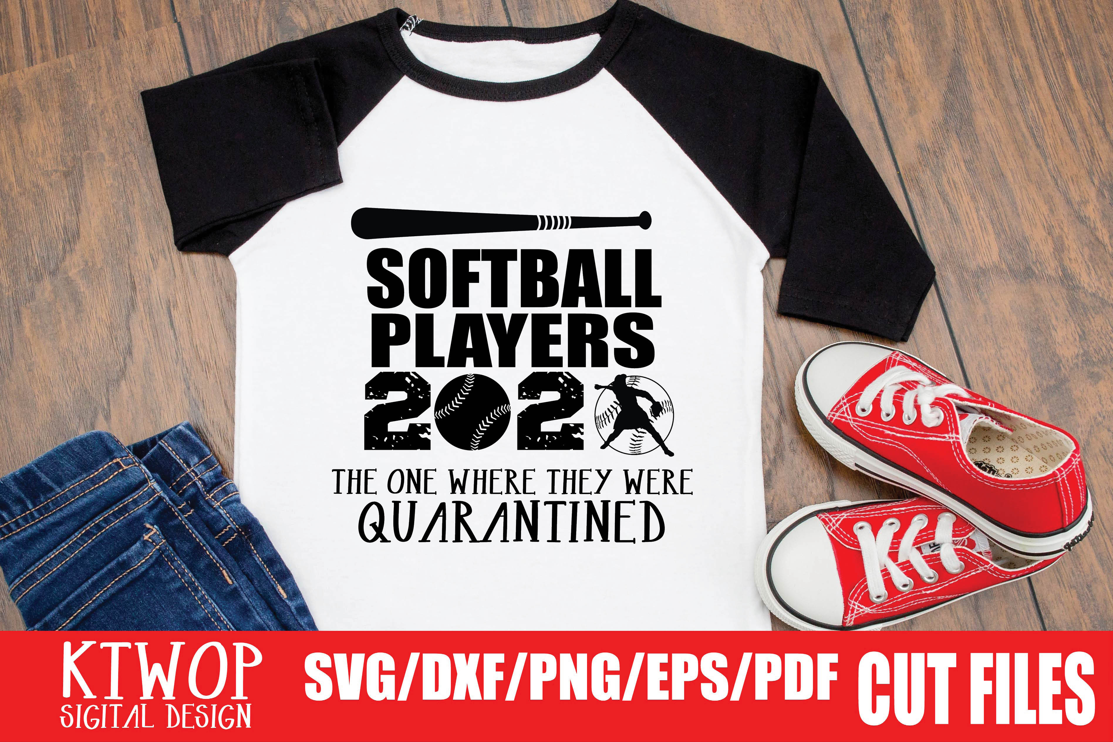 Download Free Softball Players Quarantine 2020 Graphic By Ktwop Creative Fabrica for Cricut Explore, Silhouette and other cutting machines.
