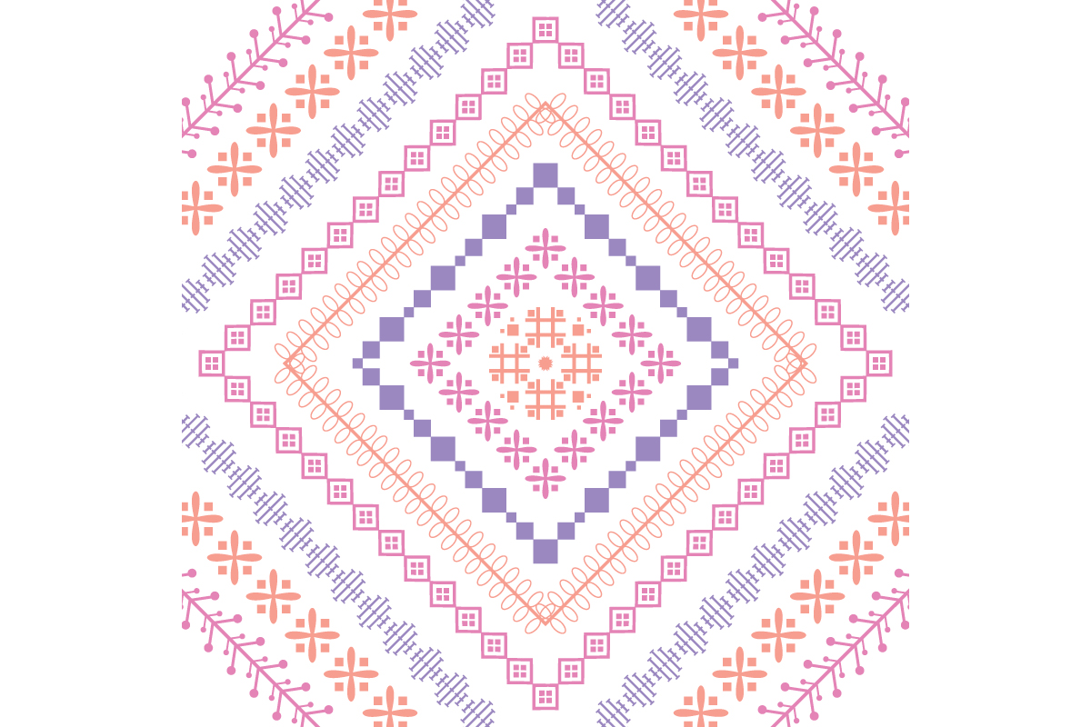 Download Free Seamless Embroidered Design Pattern Graphic By Stockfloral for Cricut Explore, Silhouette and other cutting machines.