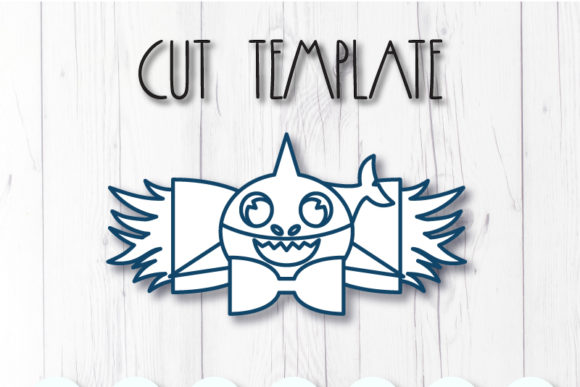 Shark Bow Template Graphic By Articuties Creative Fabrica