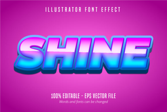 Download Free Shine Text Editable Font Effect Graphic By Mustafa Beksen for Cricut Explore, Silhouette and other cutting machines.