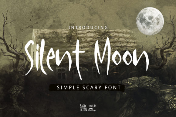 Download Free Silent Moon Font By Yandidesigns Creative Fabrica for Cricut Explore, Silhouette and other cutting machines.