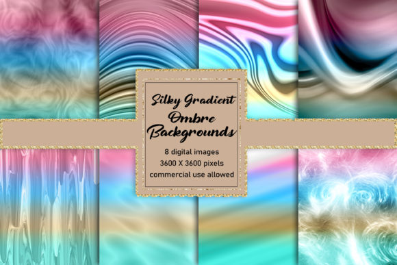 Silky Gradient Ombre Backgrounds Graphic Backgrounds By AM Digital Designs