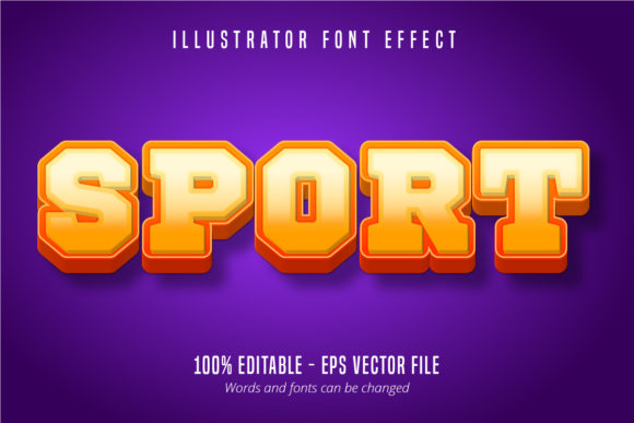 Download Free Sport Text 3d Editable Text Effect Graphic By Mustafa Beksen for Cricut Explore, Silhouette and other cutting machines.