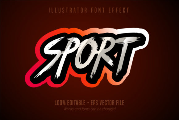 Download Free Sport Text Editable Font Effect Graphic By Mustafa Beksen for Cricut Explore, Silhouette and other cutting machines.