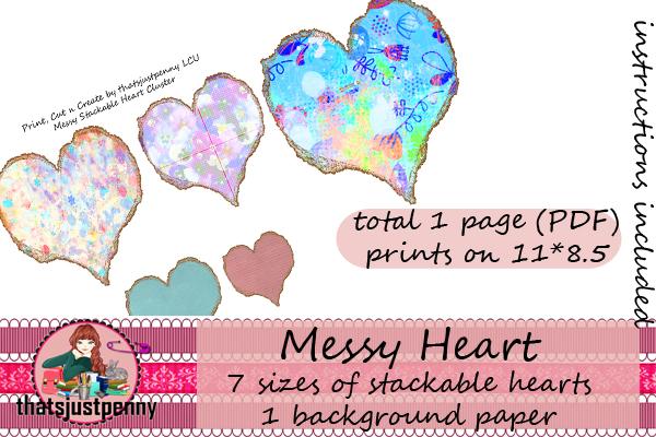 Stackable Hearts Print Cut And Create Graphic By Thatsjustpenny