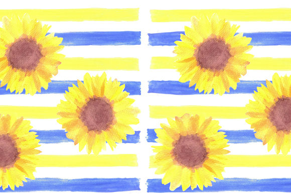 Sunflowers Watercolor Background Graphic Backgrounds By shawlin