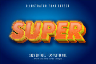 Download Free Super Text 3d Editable Font Effect Graphic By Mustafa Beksen for Cricut Explore, Silhouette and other cutting machines.