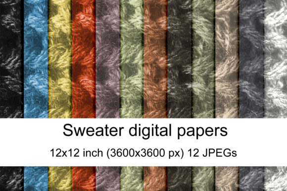 Print on Demand: Sweater Textures Graphic Textures By Andrea Kostelic