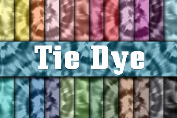 Print on Demand: Tie Dye Digital Paper - Seamless Graphic Backgrounds By oldmarketdesigns