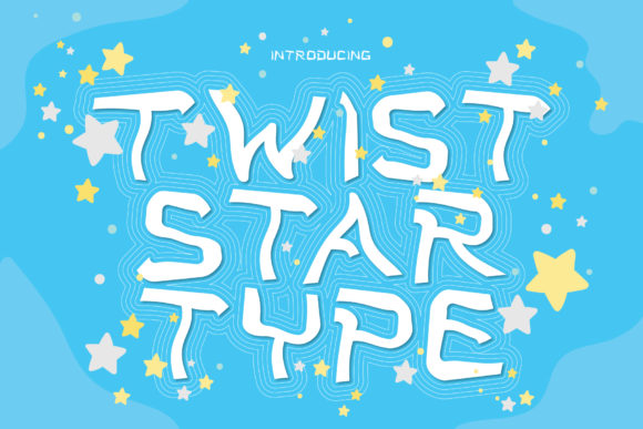 Download Free Twist Star Font By Atjcloth Studio Creative Fabrica for Cricut Explore, Silhouette and other cutting machines.