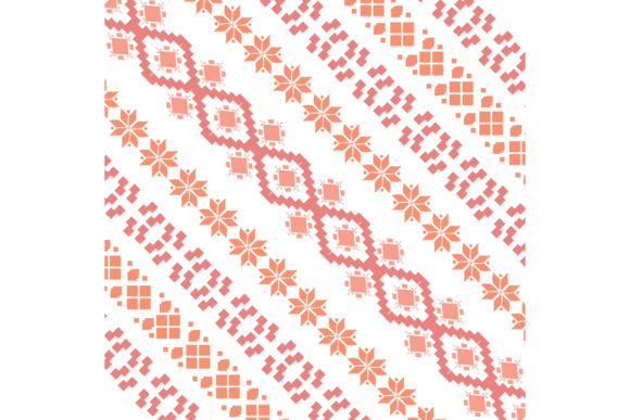 Unique Style of Embroidery Pattern Graphic Backgrounds By stockfloral