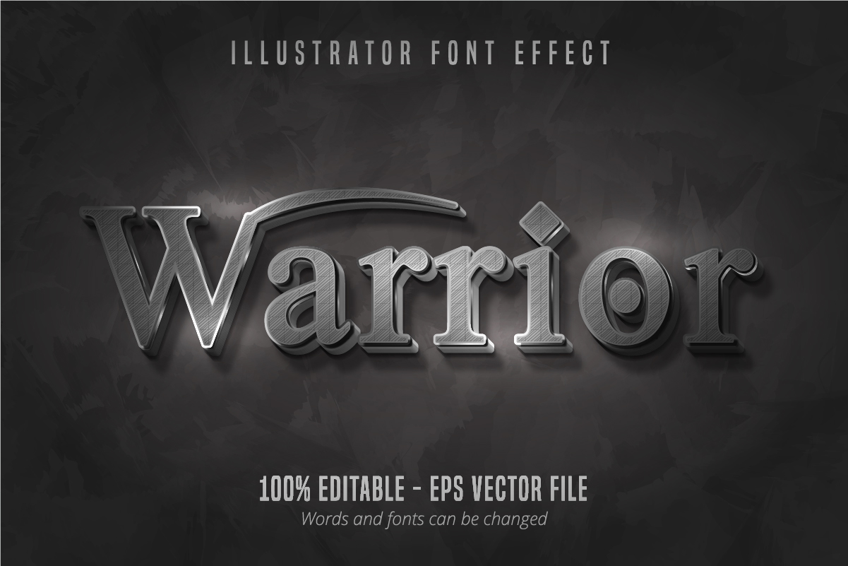 Download Free Warrior Text 3d Editable Font Effect Grafico Por Mustafa Beksen for Cricut Explore, Silhouette and other cutting machines.