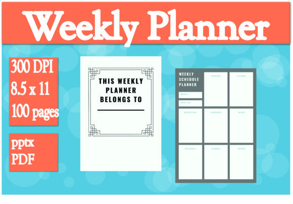 Print on Demand: Weekly Planner Interior Graphic KDP Interiors By Ivana Prue