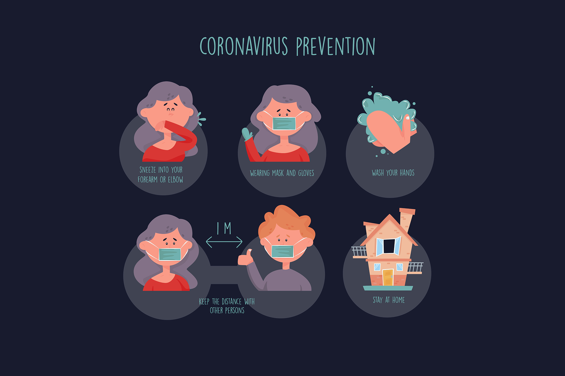 Coronavirus Prevention Tips Template Graphic By Aprlmp276