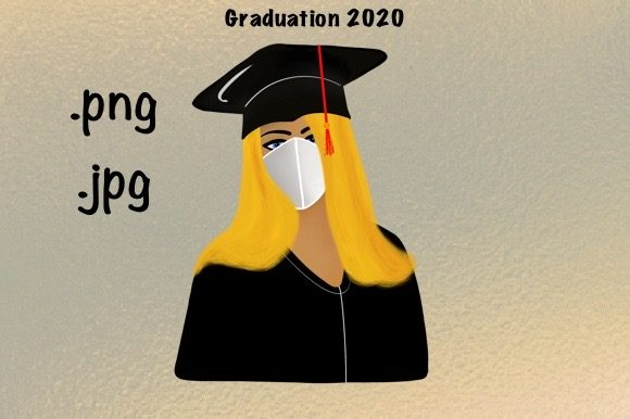 Download Free Graduation Day With Mask 2020 Graphic By Luckycharmz Designs for Cricut Explore, Silhouette and other cutting machines.