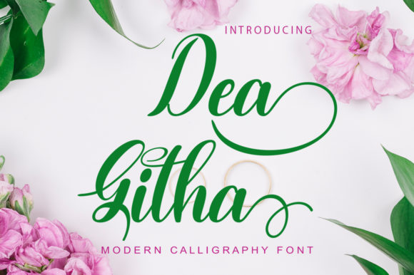 Print on Demand: Dea Githa Script & Handwritten Font By gatype