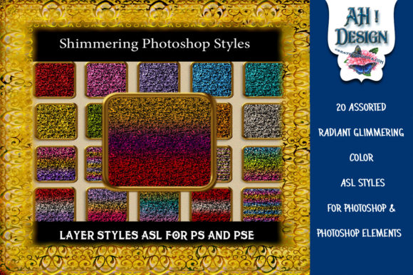 20 Shimmering Photoshop Layer Styles Graphic Layer Styles By AHDesign
