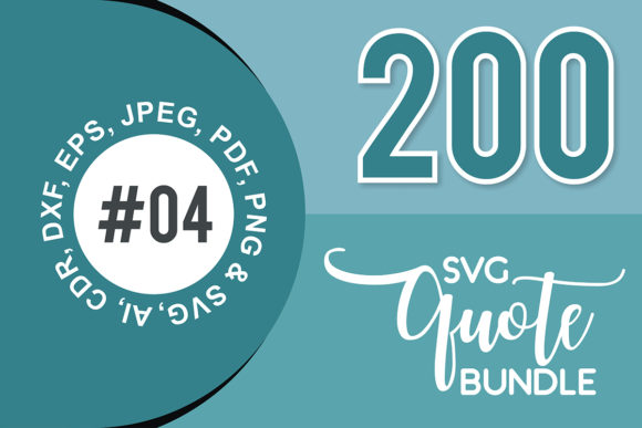 Print on Demand: 200+ SVG Cut Quote Bundle #4  By TheLucky