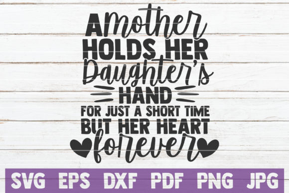 Download Free A Mother Holds Her Daughter Hand Graphic By Mintymarshmallows for Cricut Explore, Silhouette and other cutting machines.