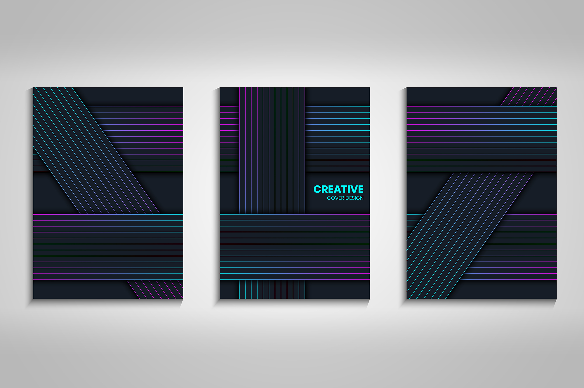 Download Free Abstract Cover Design Collection Grafik Von Medelwardi for Cricut Explore, Silhouette and other cutting machines.