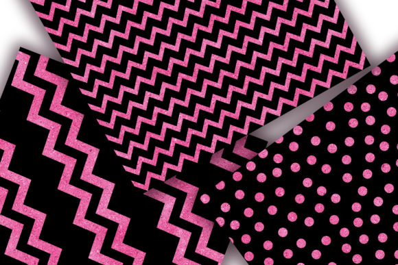 Download Free Black Pink Glitter Digital Papers Graphic By Pinkpearly for Cricut Explore, Silhouette and other cutting machines.