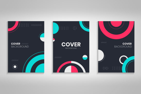 Book Cover Design with Abstract Circles Graphic Backgrounds By medelwardi