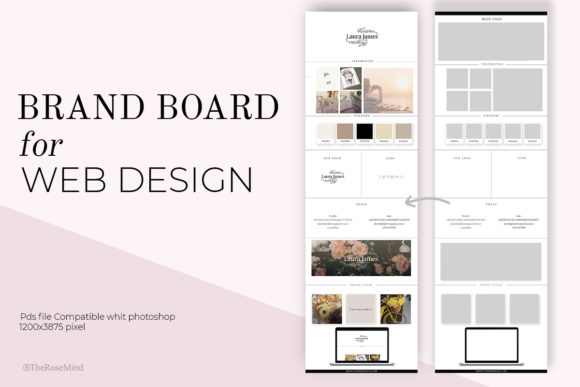 Download Free Brand Board For Web Design Graphic By Therosemind Creative Fabrica for Cricut Explore, Silhouette and other cutting machines.