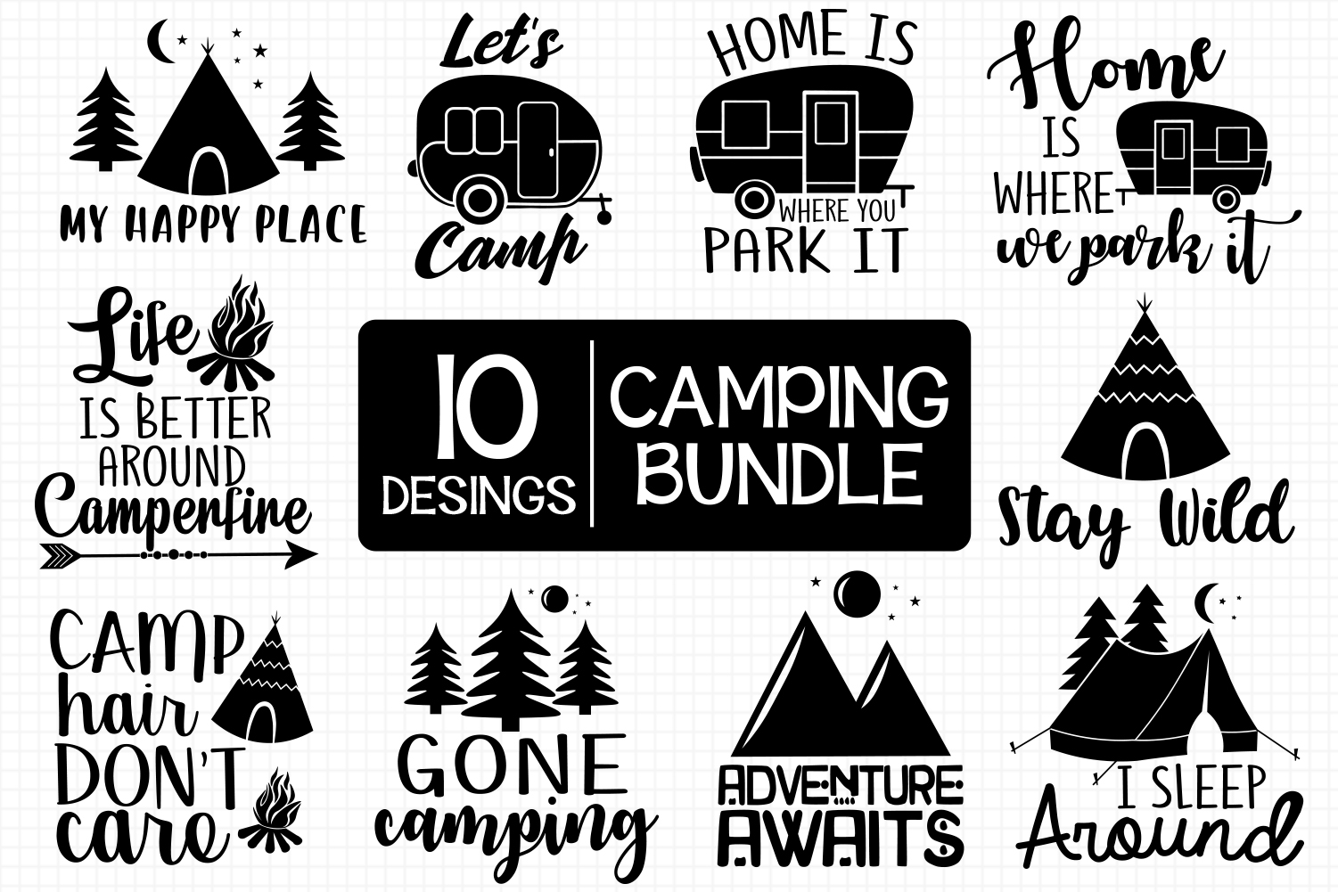 Camping Bundle Graphic By All About Svg Creative Fabrica